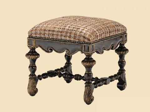 Image of Square Upholstered Bench