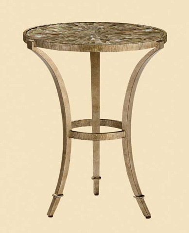 Image of Round Metal Chairside Table