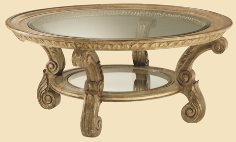 Marge Carson - Sorrento Round Cocktail Table - SR00