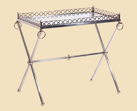 Marge Carson - Sutton Metal Chairside Table - SUT30