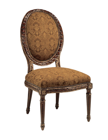 Marge Carson - Oval Back Side Chair - VV65