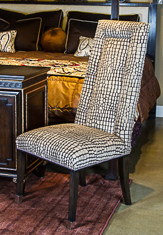 Marge Carson - Jaguar Leather Sonoma Side Chair - SNA65