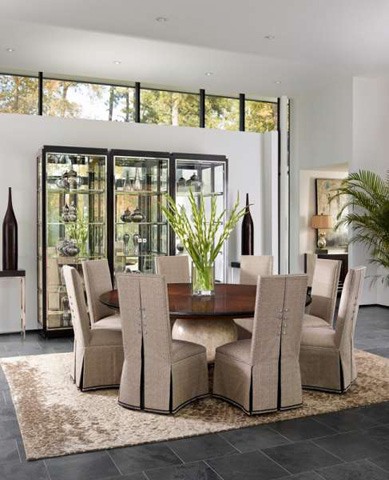 Marge Carson - Malibu Dining Room Set - MALIBUDINING1
