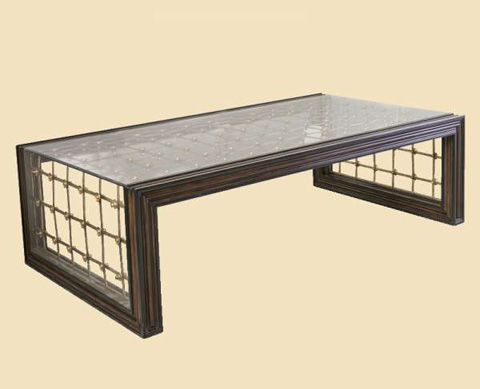 Marge Carson - Cross Channel Rectangular Cocktail Table - CRC01-1