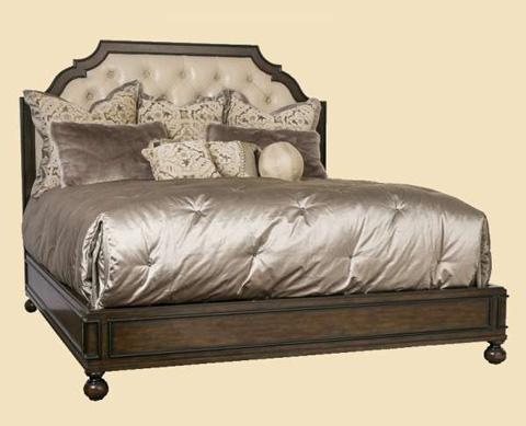 Image of Cross Channel Traditional Panel Bed