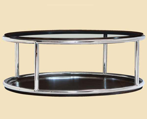 Marge Carson - Malibu Round Cocktail Table - MLB00-1
