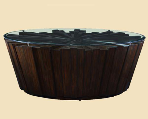 Marge Carson - Malibu Round Cocktail Table - MLB00-2