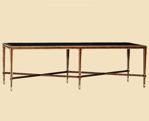 Marge Carson - Redondo Rectangular Cocktail Table - RED01