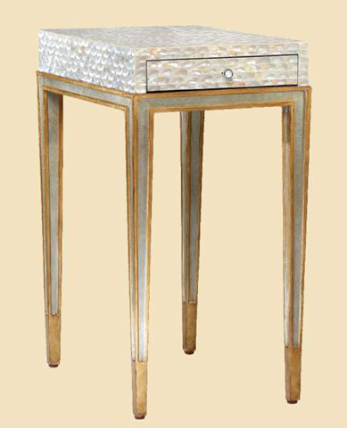 Marge Carson - Redondo Chairside Table - RED30-1