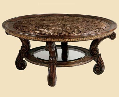 Marge Carson - Sorrento Round Cocktail Table - SR00M
