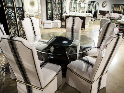 Image of Cross Channel Ten Piece Dining Room Set