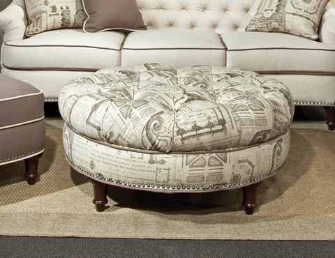 Image of Round Tufted Ottoman