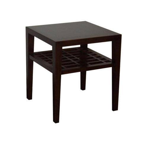 Image of Metro End Table with Lattice Shelf