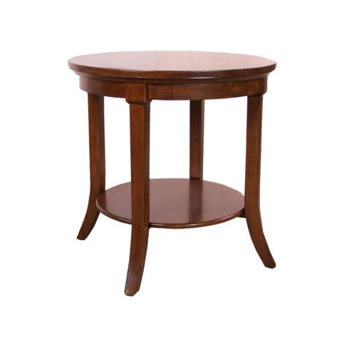 Image of Montecito Round End Table with Shelf