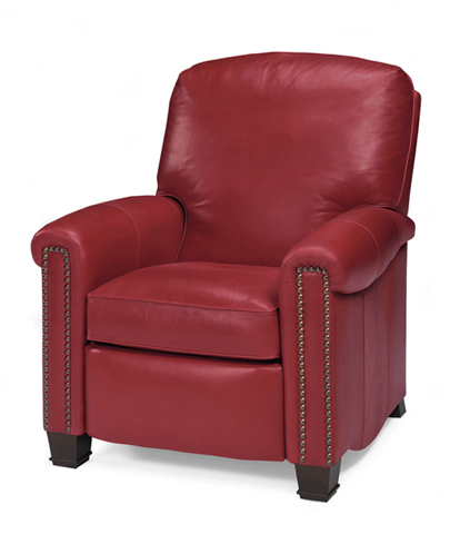Image of Leather Upholstered Recliner