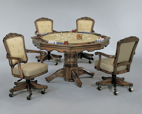 Darafeev - Classic Game Table with Game Chairs - CLC254-PL/CEN-GC