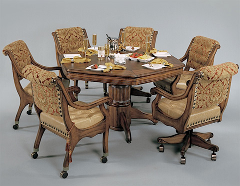 Mikhail Darafeev - Mandalay Game Table with Game Chairs - MAP254-PL/PDL-GC