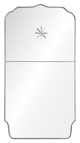 Image of Panel Mirror with Etched Star Detail