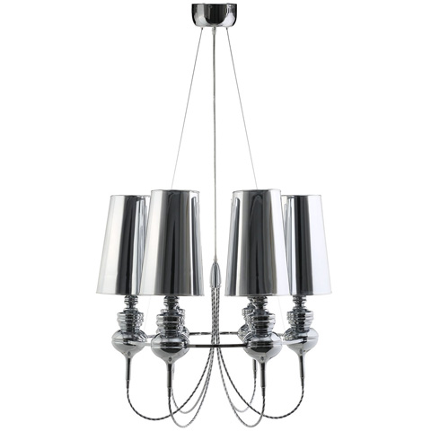 Image of Tapestry Stainless Steel Chandelier in Silver