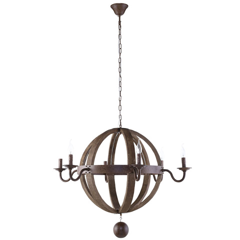 Image of Catapult Chandelier in Antique Brass
