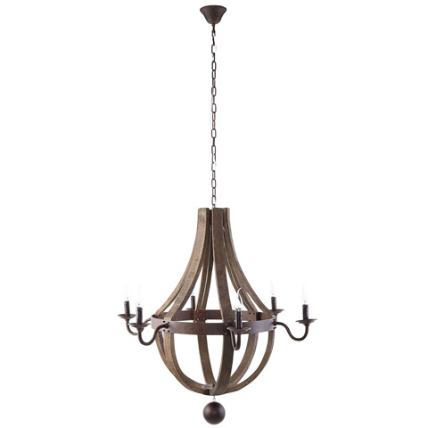 Image of Ballista Chandelier in Antique Brass
