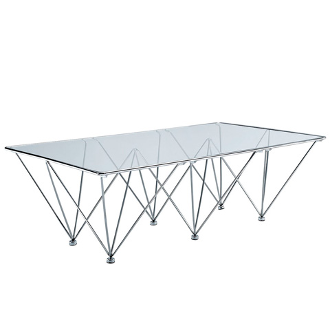 Image of Prism Rectangle Coffee Table in Clear