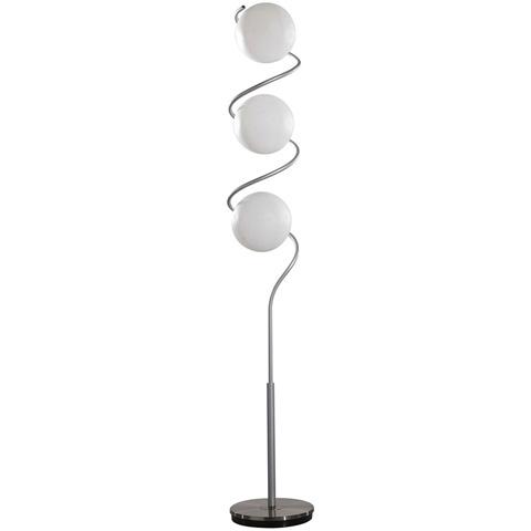 Image of Swizzle Floor Lamp in Silver