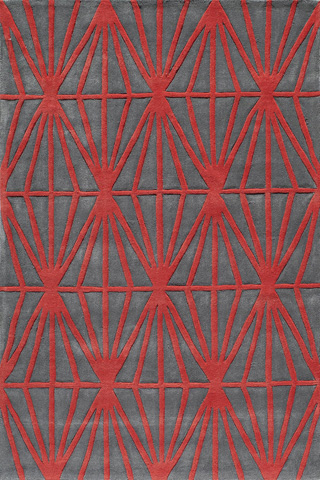 Image of Bliss Rug in Red