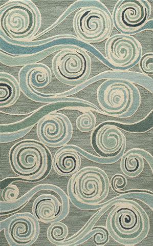 Image of Dunes Rug in Light Blue