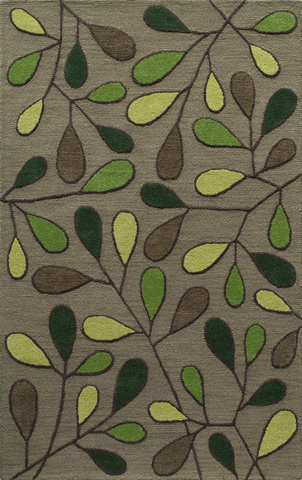 Image of Dunes Rug in Green