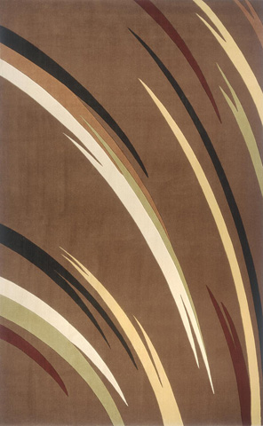 Image of Elements Rug in Brown