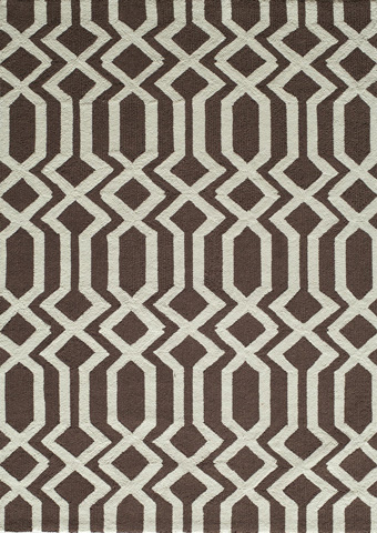 Image of Geo Rug in Brown