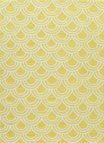 Momeni - Geo Rug in Yellow - GEO-15 YELLOW