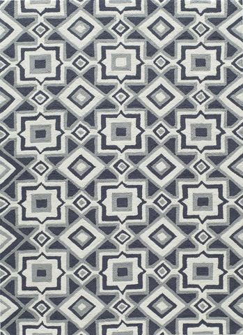Image of Geo Rug in Charcoal