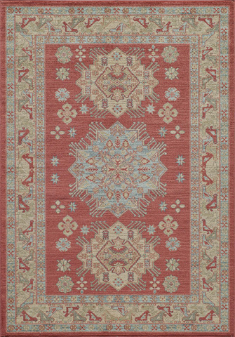 Image of Ghazni Rug in Red