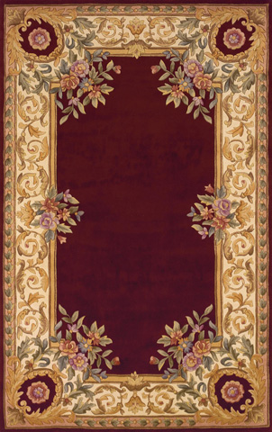 Image of Harmony Rug in Burgundy