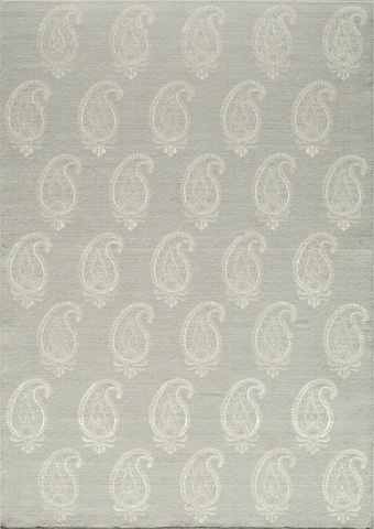 Momeni - Lace Embroided Rug in Silver - LAC-01 SILVER