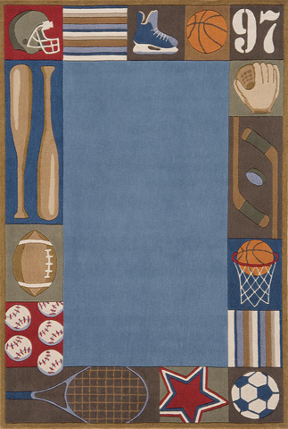 Image of Lil Mo Whimsy Rug in Denim