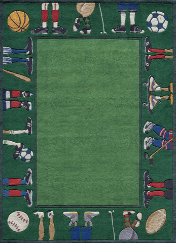 Image of Lil Mo Whimsy Rug in Grass