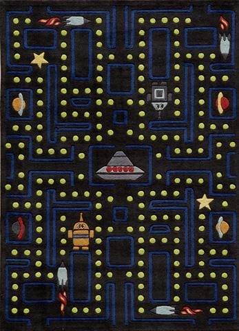 Momeni - Lil Mo Whimsy Rug in Black - LMJ-14 ARCADE ARCADE BLACK