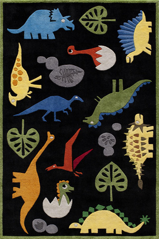 Image of Lil Mo Whimsy Rug in Black