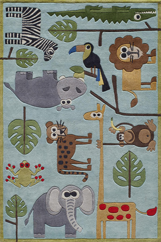 Image of Lil Mo Whimsy Rug in Blue