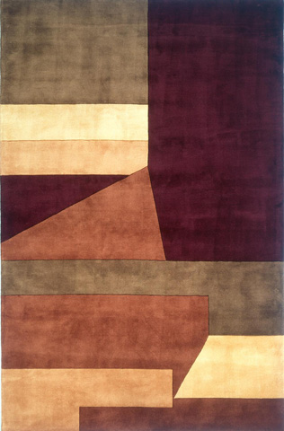 Image of New Wave Rug in Wine