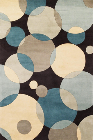 Image of New Wave Rug in Teal
