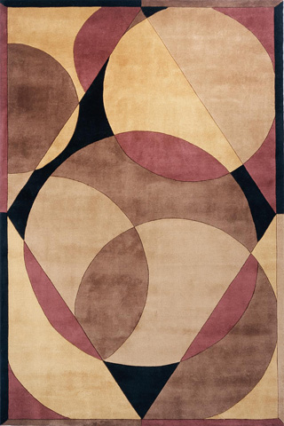 Image of New Wave Rug in Brown