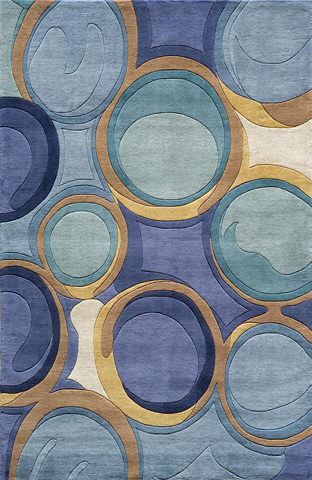 Image of New Wave Rug in Blue