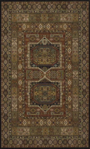 Momeni - Persian Garden Rug in Black - PG-16 BLACK