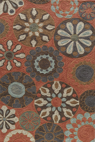 Image of Summit Rug in Terracotta