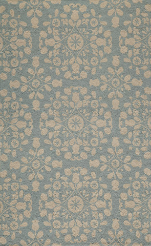 Image of Suzani Hook Rug in Blue
