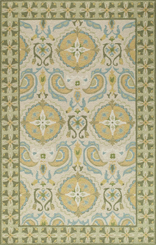 Image of Suzani Hook Rug in Beige